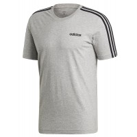 ΜΠΛΟΥΖΑ ADIDAS PERFORMANCE ESSENTIALS 3 STRIPES T-SHIRT ΓΚΡΙ