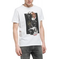 T-SHIRT REPLAY PHOTO PRINT M3418.000.2660 ΛΕΥΚΟ