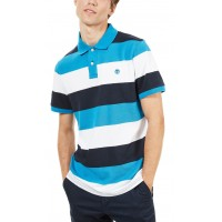 T- SHIRT POLO TIMBERLAND MILLERS RIVER PQUE WIDE STRIPE TB0A1KEX ΜΠΛΕ
