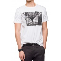 T-SHIRT REPLAY M3547.000.2660 PHOTO PRINT ΛΕΥΚΟ