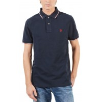 T- SHIRT POLO TIMBERLAND MILLERS RIVER PQUE TB0A1O6Z ΣΚΟΥΡΟ ΜΠΛΕ