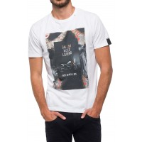 T-SHIRT REPLAY DIGITAL PRINT M3731 .000.2660 ΛΕΥΚΟ