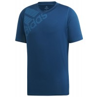 ΜΠΛΟΥΖΑ ADIDAS PERFORMANCE FREELIFT BADGE OF SPORT GRAPHIC TEE ΜΠΛΕ