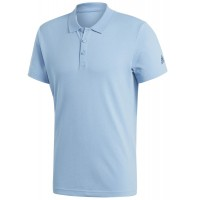 ΜΠΛΟΥΖΑ ADIDAS PERFORMANCE ESSENTIALS BASIC POLO SHIRT ΘΑΛΑΣΣΙ