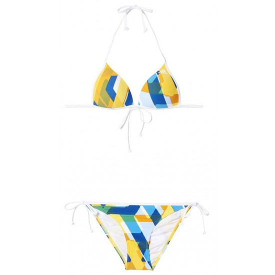 ΜΑΓΙΟ ADIDAS PERFORMANCE ALL OVER PRINT BIKINI ΛΕΥΚΟ/ΚΙΤΡΙΝΟ