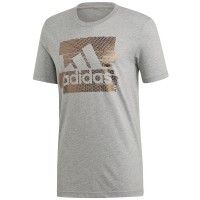 ΜΠΛΟΥΖΑ ADIDAS PERFORMANCE FOIL BADGE OF SPORT TEE ΓΚΡΙ