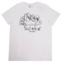T-SHIRT TIMBERLAND NEW DESTINATION BELGRADE  CA1LK4G20 ΛΕΥΚΟ