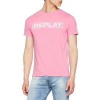 T-SHIRT REPLAY FADE WRITING M3763 .000.22662G ΡΟΖ