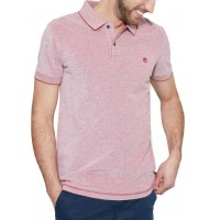 T-SHIRT POLO TIMBERLAND SOLID OXFORD CA1INWE70 ΜΠΟΡΝΤΩ