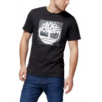 T-SHIRT TIMBERLAND KENNEBEC PATTERN TREE CA1LMRI19 ΜΑΥΡΟ