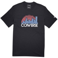 T-SHIRT CONVERSE RETRO SKYLINE ΜΑΥΡΟ