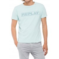 T-SHIRT REPLAY  FADE WRITING M3763 .000.22662G ΜΕΝΤΑ