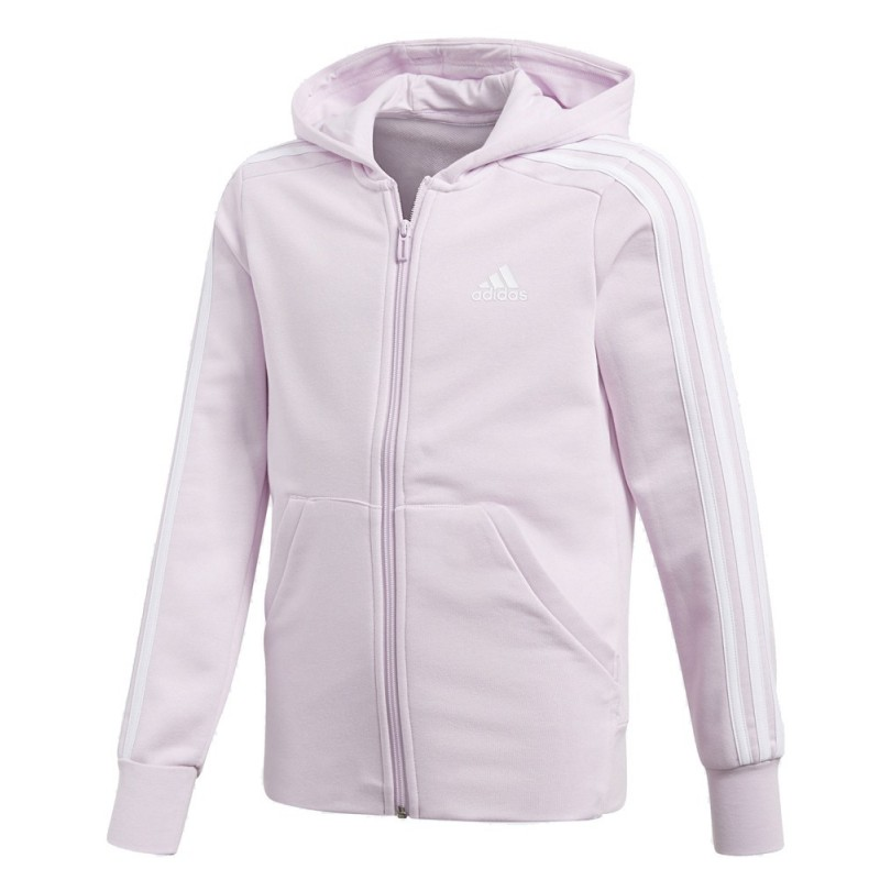 07814eb28184 ΖΑΚΕΤΑ ADIDAS PERFORMANCE ESSENTIALS 3-STRIPES HOODIE ΡΟΖ .