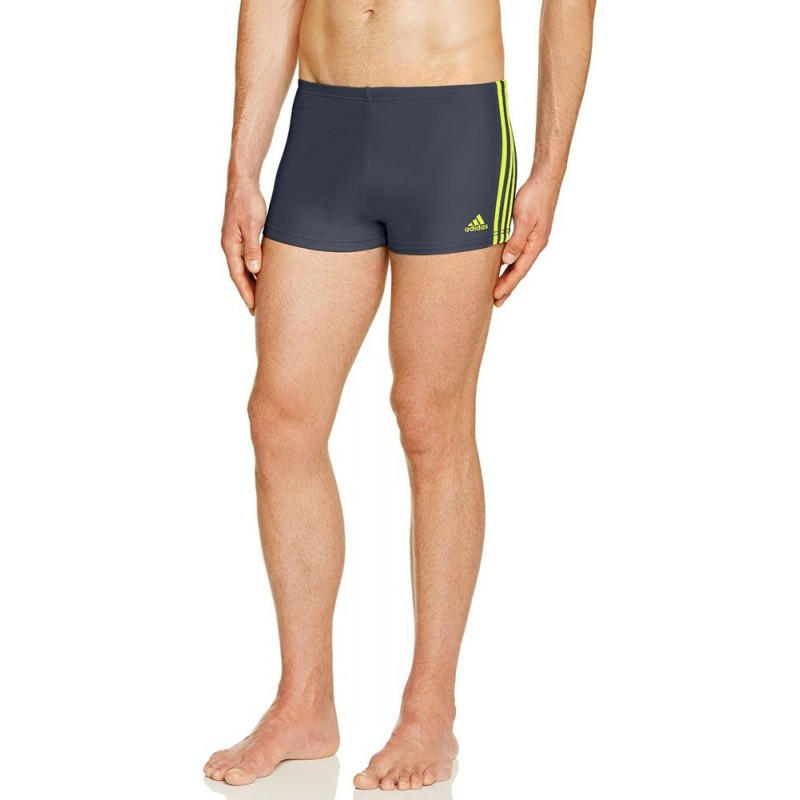 4fc2e943681 ΜΑΓΙΟ ADIDAS PERFORMANCE INFINITEX 3-STRIPES BOXERS ΓΚΡΙ/ΚΙΤΡΙΝΟ