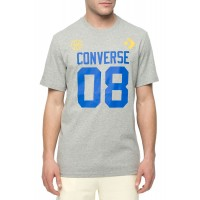 T-SHIRT CONVERSE BASKETBALL THEME ΓΚΡΙ ΜΕΛΑΝΖΕ