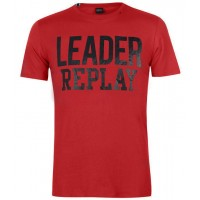 T-SHIRT REPLAY M3616.000.22336 ΚΟΚΚΙΝΟ