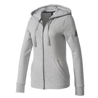 ΖΑΚΕΤΑ ADIDAS PERFORMANCE ESSENTIALS SOLID FZ HOODIE ΓΚΡΙ