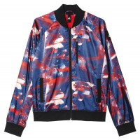 ΜΠΟΥΦΑΝ ADIDAS PERFORMANCE FLOWER BOMBER JACKET ΜΩΒ