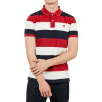 T- SHIRT POLO TIMBERLAND MILLERS RIVER PQUE WIDE STRIPE TB0A1KEX ΚΟΚΚΙΝΟ