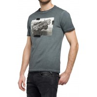 T-SHIRT REPLAY PHOTO PRINT M3402.000.22038F ΑΝΘΡΑΚΙ