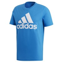 ΜΠΛΟΥΖΑ ADIDAS PERFORMANCE ESSENTIALS LINEAR TEE ΜΠΛΕ ΑΝΟΙΚΤΟ