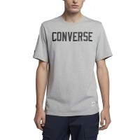 T-SHIRT CONVERSE ESSENT GRAPHICS ΓΚΡΙ ΜΕΛΑΝΖΕ