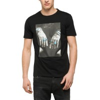 T-SHIRT REPLAY PHOTO PRINT M3266 .000.2660 ΜΑΥΡΟ