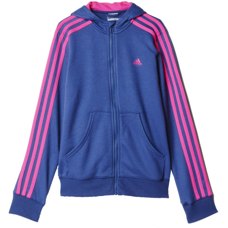 9becb884d7d2 ΖΑΚΕΤΑ ADIDAS PERFORMANCE YG ESSENTIALS FULL ZIP HOODIE ΜΩΒ/ΡΟΖ .