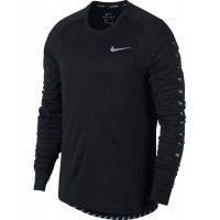 ΜΠΛΟΥΖΑ NIKE DRY FLASH MILER RUNNING TOP ΜΑΥΡΗ