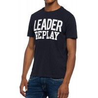 T-SHIRT REPLAY M3616.000.22336 ΜΑΥΡΟ