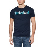T- SHIRT TIMBERLAND SS KENNEBEC RIVER CA1L6PH78 ΣΚΟΥΡΟ ΜΠΛΕ